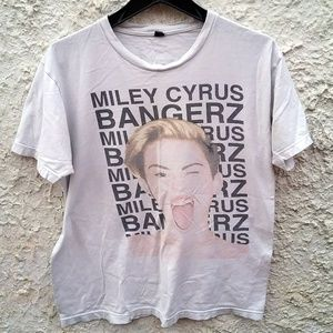 Miley Cyrus Bangerz 2014 Tour Shirt Womans Large